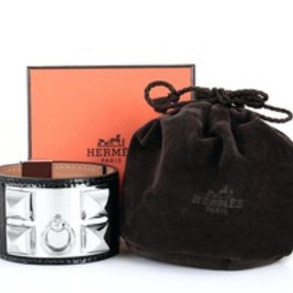 Hermes Accessories - Hermes CDC Bracelet Alligator Collier De Chien Aut